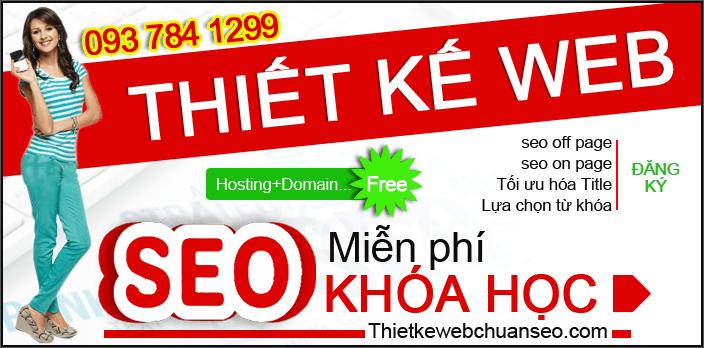 Thiết kế web tặng ngay khóa học seo Miễn phí