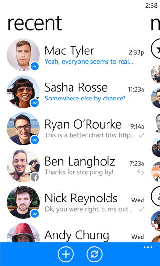 Facebook Messenger cập bến Windows Phone 8 1