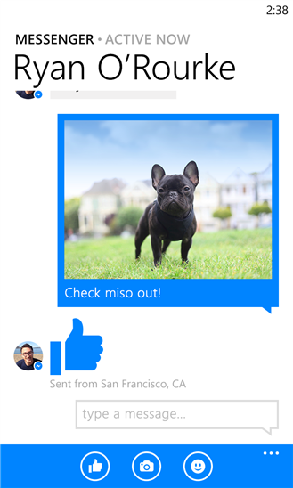Facebook Messenger cập bến Windows Phone 8 3