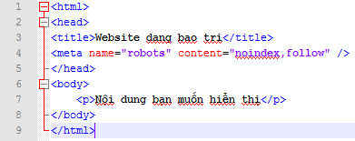 Chặn index domain