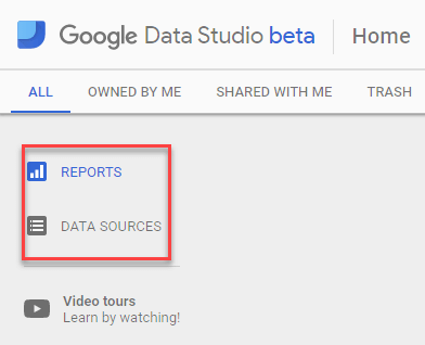 Reports and Data Source