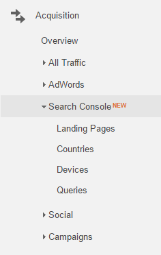 Vào Search Console Reports
