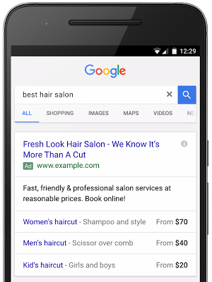 Google tung ra Price Extension cho Mobile Text Ad