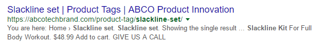slackline set on Google Search