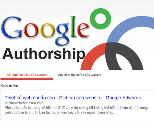 Bắt đầu sử dụng Google Authorship