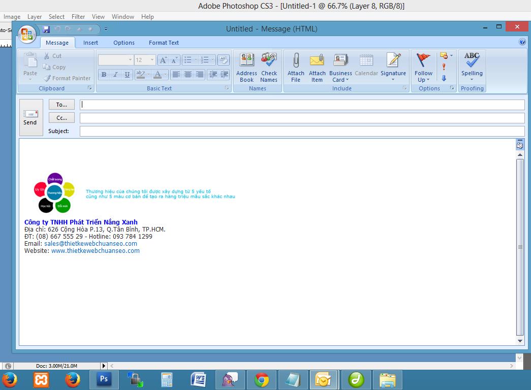 Hướng dẫn tạo chữ ký trong Outlook