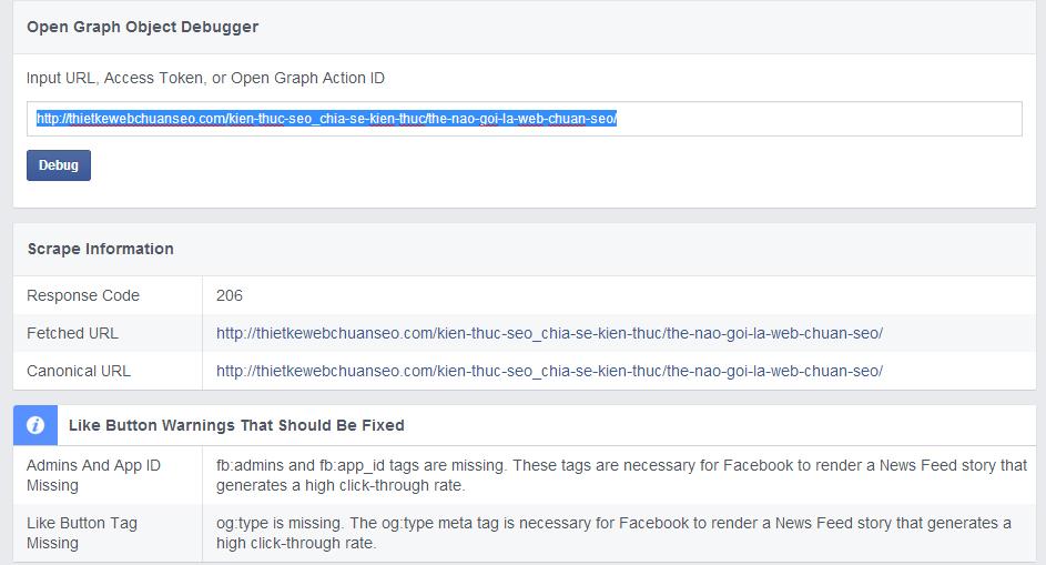 Khắc phục lỗi facebook không thiển thị ảnh khi chia sẻ link