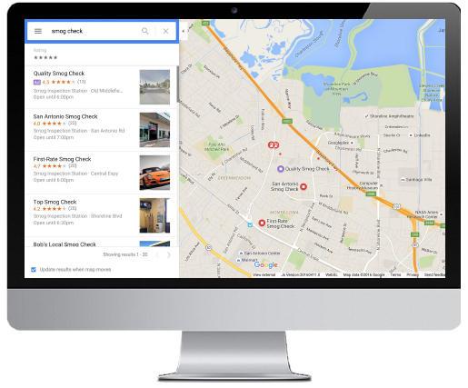 Quảng cáo tìm kiếm địa điểm & Quảng cáo google map