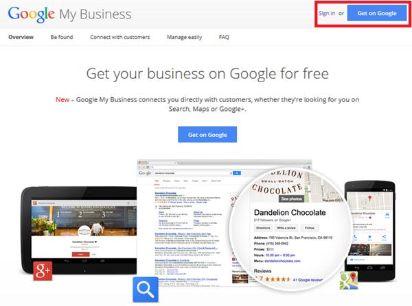 Vào phần Google My Business