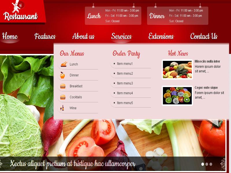 Thiết kế website nhà hàng quán ăn, dịch vụ ăn uống
